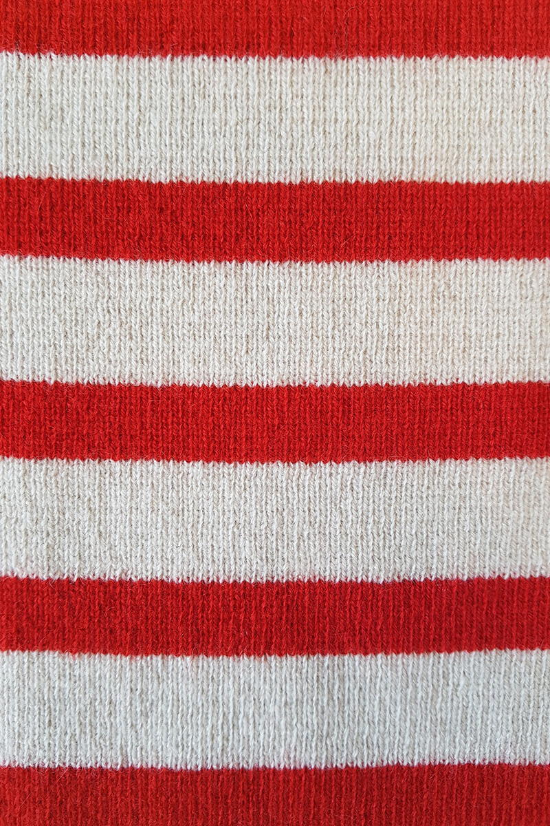 Fabric ι Red and White